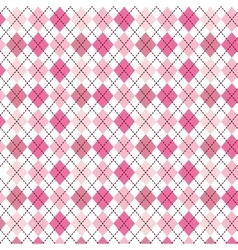 pink pattern with diamond shapes vector image