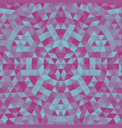 Round triangle kaleidoscope mandala background - vector