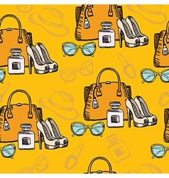 Seamless hipster fashion pattern vector