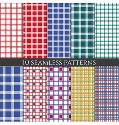set of abstract geometric seamless patterns vector image