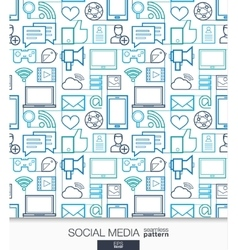 Social Media wallpaper Network communication vector image