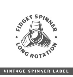 spinner label vector image vector image