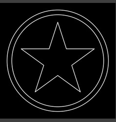 Star in circle the white path icon vector