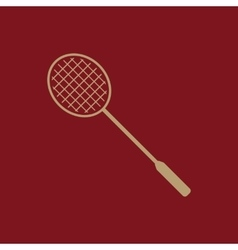 The badminton icon game symbol flat vector