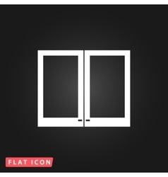 Two plastic Window icon vector image