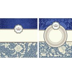 vintage card set vector image