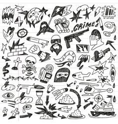 warcrime - doodles collection vector image