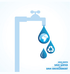 world water day greeting stock vector image