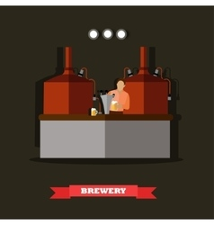 Brewery and beer restaurant concept vector