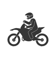 Motorcycle sport extreme vector