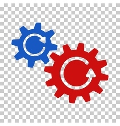 Cogs rotation icon vector