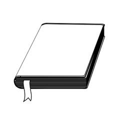 Blank book isolated vector