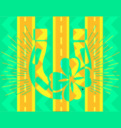 Abstract icon of good luck vector