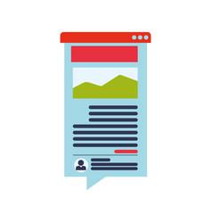 blog online website vector image