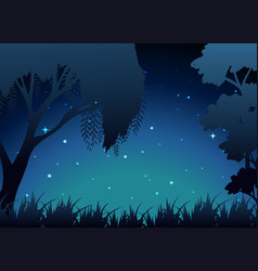 Scene of forest at night vector
