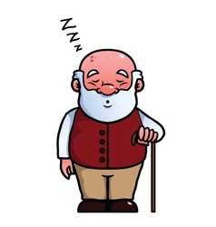 Old man sleeping and snoring vector image