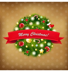 Merry Christmas Vintage Composition vector image