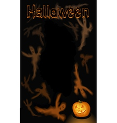Halloween vertical ghosts background vector