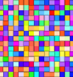 Abstract colorful background with squares vector