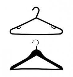 coat hangers vector image