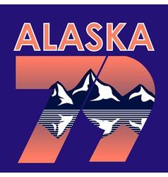 Alaska Landscape 1979 T-shirt Typography vector image