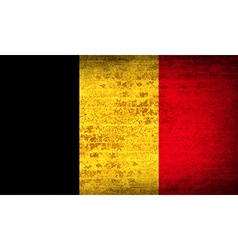 Flags belgium with dirty paper texture vector