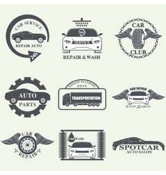 car service labels vector image