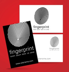 Fingerprint logo identity vector