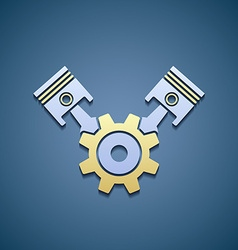 Icon machine engine vector image