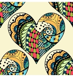 Pattern of tangle patterns hearts vector