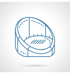Armchair for rest blue flat line icon vector