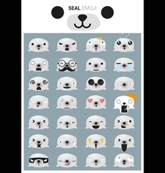 Seal emoji icons vector