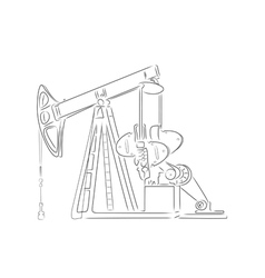 Outline of oil derrick vector