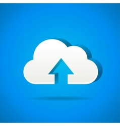 cloud app icon - upload files vector image