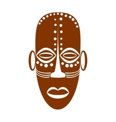 African Ethnic Tribal mask vector image