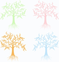 art trees collection vector image