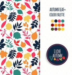 Autumn seamless patternColor autumun pallet vector image vector image