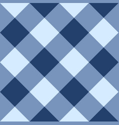 Blue checkered seamless background vector