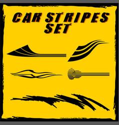 Car stripe design set to print and cut on vinyl vector