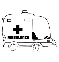Cartoon amublance vector image vector image
