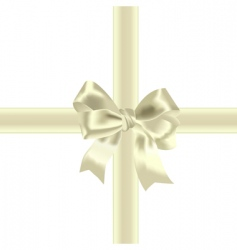 celebratory bow vector image vector image