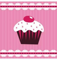 cherry cake vector image vector image