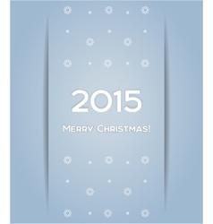Christmas background snowflake 2015 vector image
