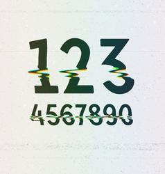 Cmyk print distortion digits vector