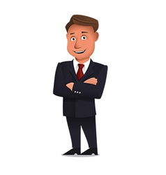 Confident businessman vector image vector image