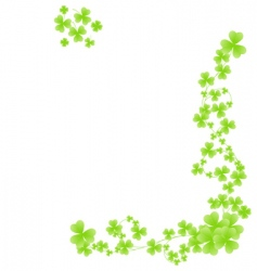 corner shamrock pattern vector image