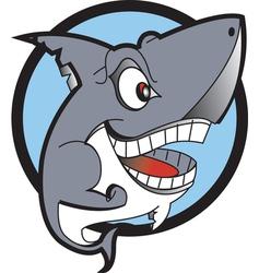 Danger shark logo vector image vector image