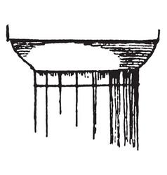 Doric capital liability vintage engraving vector
