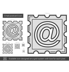 Email postcard line icon vector