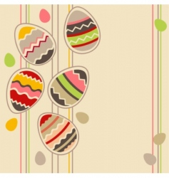 greeting card with Easter eggs vector image vector image